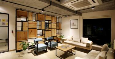 Salón de Diseño con Aire Acondicionado
